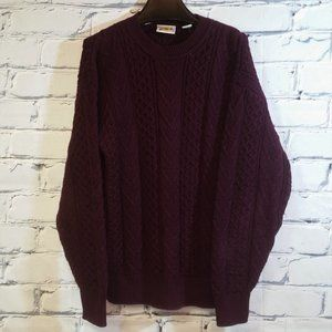 VTG Cable Knit Sweater Pullover Fisherman Chunky